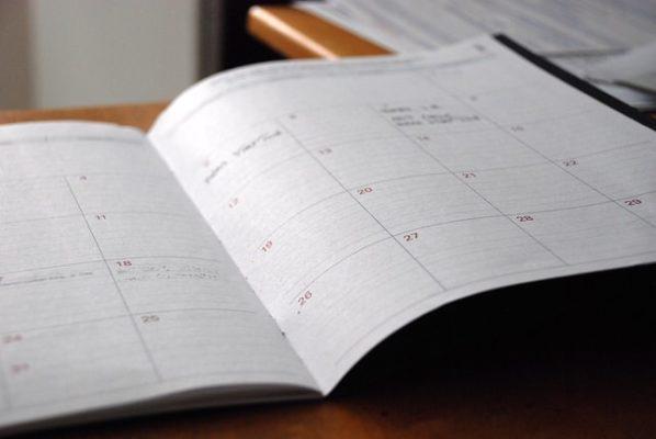 月間の予定がわかる手帳