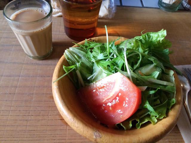 サジロカフェのサラダ