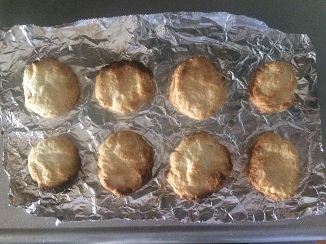 グリルで焼いたクッキー